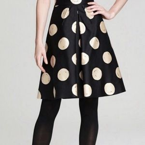 Kate Spade Holly Polka Dot Silk A-Line Skirt